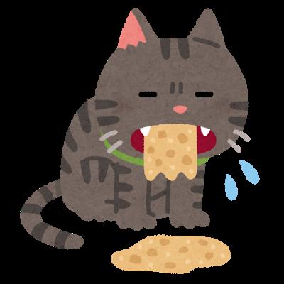 嘔吐する(吐く)猫